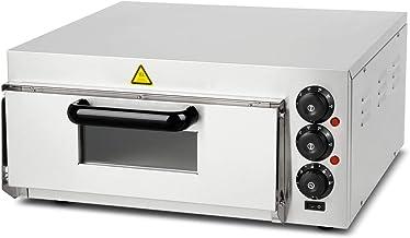 Vertes four à pizza electrique professionnel (2000 watt, régulation de température 0°C à 350°C, contrôle séparé de la temp...
