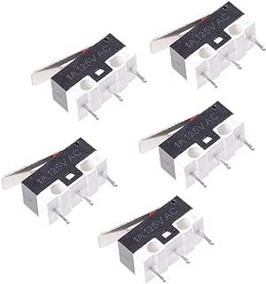 UKCOCO Interruptor de límite micro 5pcs impermeable Interruptor de botón momentáneo a prueba de agua 3 pines palanca larga de la bisagra micro interruptor