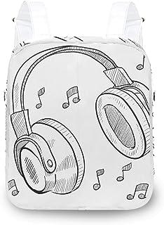 LUPINZ - Mochila para auriculares musicales, diseño de boceto