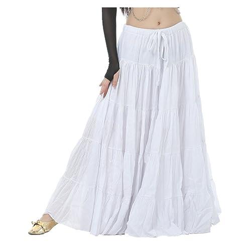 Seawhisper 16 Yard Cotton Skirt with Coin Belt