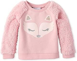 The Children's Place Baby Girls Sherpa Graphic Sweatshirt