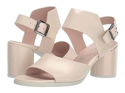 ECCO Shape 65 Block Strap Sandal (Vanilla Metallic Calf Leather) High Heels