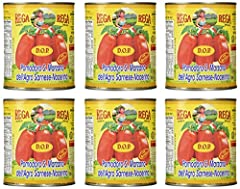 San Marzano DOP (Protected Designation of Origin) Authentic Whole Peeled Plum Tomatoes by Rega, Giant Food Service Size (28 Ounce Each), Imported From Italy D.O.P certified (Protected Designation of Origin) San Marzano tomatoes, only grown in the vol...