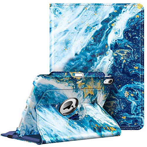 Fintie Case for iPad Air 4 10.9 Inch 2020 with Pencil Holder [Support 2nd Gen Pencil Charging] - 360 Degree Rotating Stand Cover with Auto Sleep/Wake for iPad Air 4th Generation, Sandy Wave