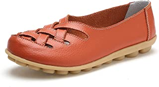 Jiyaru Womens Non-Slip Hollow Breathable Slip-on Sneakers Low Top Nursing Loafers Shoes