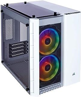 Corsair Crystal 570X RGB - Caja de PC, Mid-Tower ATX, ventana lateral cristal templado con ventilador, iluminación RGB LED, Blanco,Blanco,280X RGB