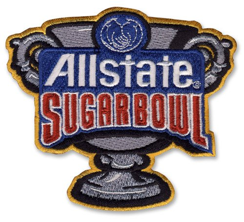 Allstate Sugar Bowl Game Jersey Patch Clemson Alabama (2018)