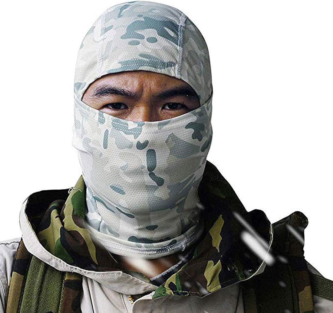 Tactical Full Face Mask Hood Balaclava Headgear Caps Camouflage