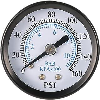 ULTECHNOVO TS- 40-10Bar 0- Medidor de Pressão 160Psi 0-10Bar NPT Econômica Série de Metal Escala Dupla Bitola