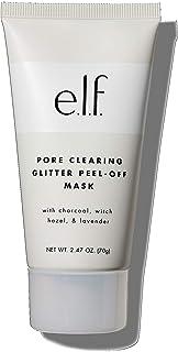 e.l.f. Pore Clearing Glitter Peel Off Mask, Charcoal-Enriched Formula, 2.47 oz.