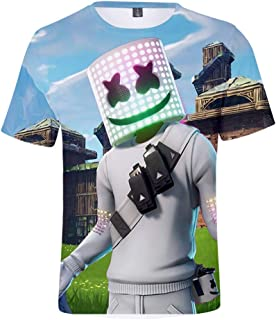 2019 new hot style American DJ marshmello marshmallow Fortnite fortress night short sleeved T-shirt 3D digital printed shirt for men/women