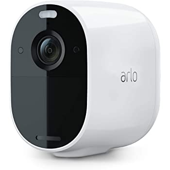 Arlo Essential Spotlight Camera   Wire-Free, 1080p Video   Color Night Vision, 2-Way Audio, 6-Month Battery Life, Motion Activated, Direct to Wi-Fi, No Hub Needed   Works with Alexa   White