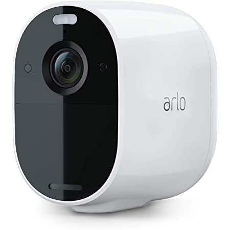 Arlo Essential Spotlight Camera - 1 Pack - Wireless Security, 1080p Video, Color Night Vision, 2 Way Audio, Wire-Free, Direct to WiFi No Hub Needed, Works with Alexa, White - VMC2030