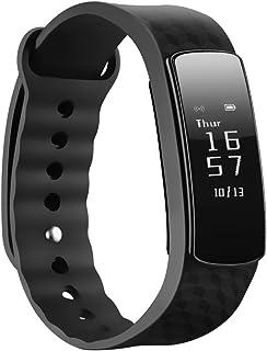 Mpow Pulsera Actividad, Pulsera de Pasos y Calorías Smartband de Fitness Monitor Inteligente de Sueño, Podómetro Pulsera, Monitor de Calorías, Impermeable IPX7 Bluetooth 4.0 para Android y iPhone