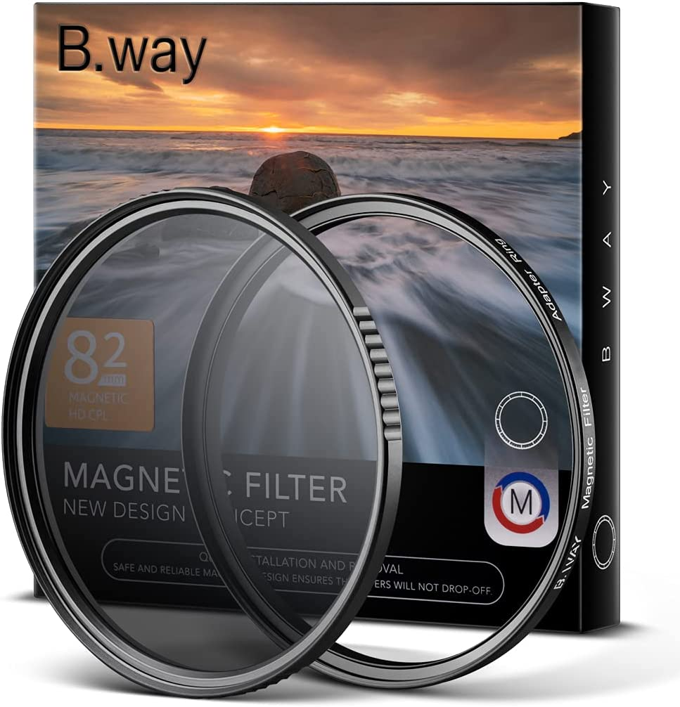 B.way Magnetic 82mm Circular Polarizers CPL Filter w NEW before Super special price selling ☆ Lens