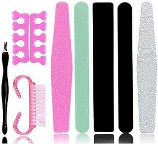 9PCS/Set Professional Manicure Tools Accessories Toe Finger Separator Manicure Files Dead Skin Fork Buffing Sanding Polish...
