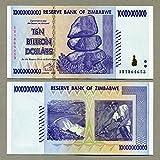 Simbabwe 10 Billion Dollar 2008 UNC, World Inflation Record, Währung Banknoten P85 -