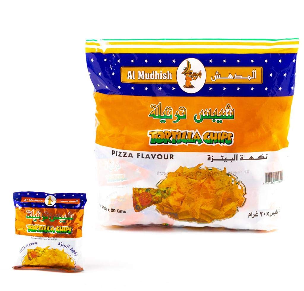 TORTILA CHIPS PIZZA FLAVOUR 24 PACK FROM OMAN - Tulsa Elegant Mall IMPORTED