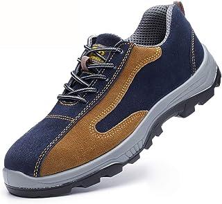 作業靴 電気絶縁滑り止めアイアンファイリングメンズ労働保険靴、皮脂防止、匂い防止、粉砕防止、ピアス防止、古い安全靴 安全靴 (色 : H h, サイズ さいず : 37)