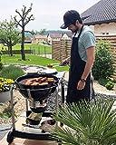 ZOLLNER Kochschürze verstellbar aus Baumwolle, 75x100 cm, schwarz (UVM.) - 3