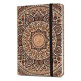 Navaris Cuaderno con cubierta de corcho - Diario de viaje - Libreta a rayas - Bloc de notas para el hogar oficina - Diseño de sol indio