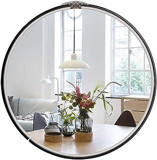 LLRYN Simple Metal Makeup Mirror Frame, Round Wall Mounted Glass Bathroom Mirror, Wall Mounted Mirror Bathroom Living Room...