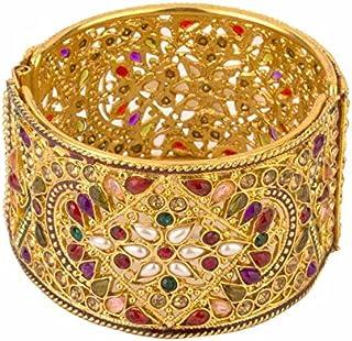 مجموعة اساور يوبيلا بتصميم تقليدي مطلي بالذهب للنساء (متعدد الألوان)(YBBN_80003)