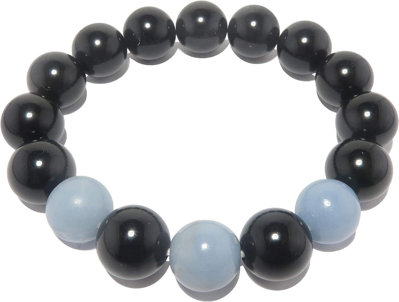 Selling I Dig Lowest price challenge Crystals Angelite Bracelet Obsidian Black Rainbow Boutique