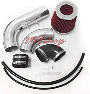 2002 2003 2004 2005 Chevy Cavalier and Pontiac Sunfire with 2.2L L4 Engine Air Intake Filter System (Black Accessories with Red Filter)