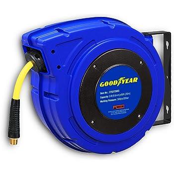 "GOODYEAR Air Hose Reel Heavy Duty Retractable Air Compressor 1//4 /"" x 50ft"