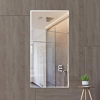 Creative Arts n Frames Glass Wall Mirror (Silver_Mirror: 18 X 36 Inch, Shelf: 18 X 6 Inch)