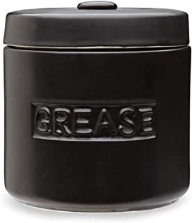Fox Run Grease Container, 5 x 5 x 5.5 inches, Black