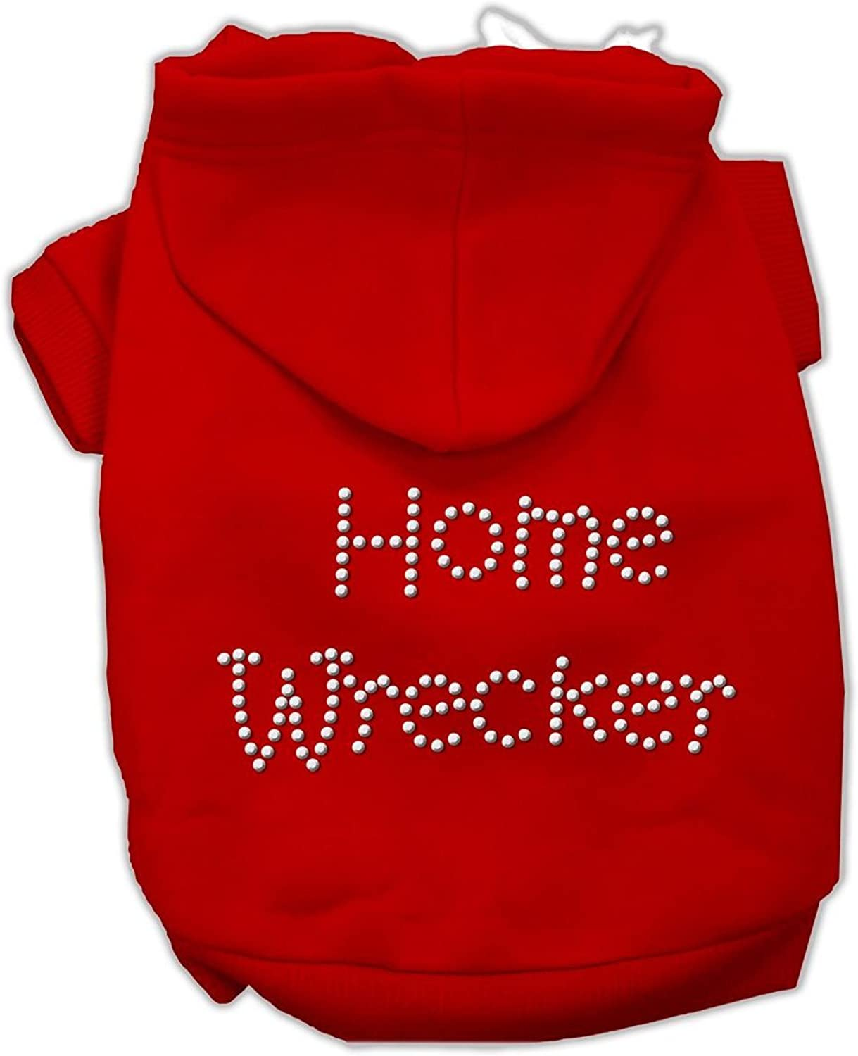 Mirage Pet Products Home Wrecker Hoodies, Red, XLarge