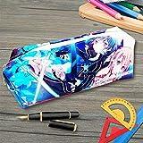 Estuche de anime Sword art Online Bolsa de Lápiz Lapicero Lapices Pencil Case Portalapices Neceser Maquillaje para Material de Papelería con para Estudiantes en Escuela