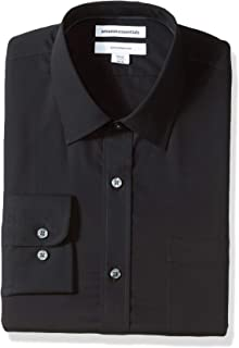 Amazon Essentials Men's Slim-Fit Wrinkle-Resistant Long-Sleeve Dress Shirt