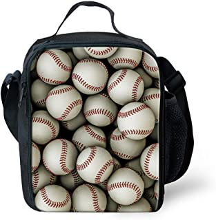 Coloranimal Cooler Lunch Box for Student 3D Baseball Lunch Holder Tote