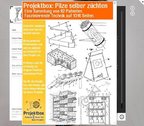 Pilze selber züchten: Deine Projektbox inkl. 92 Original-Patenten bringt Dich mit Spaß hinter die Geheimnisse der Technik!