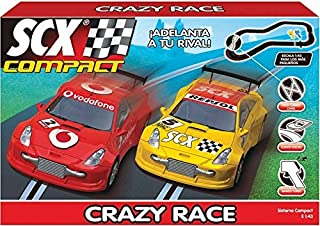 SCX Compact 1:43 Scale Slot Car Race Track Set (Crazy Race DTM)