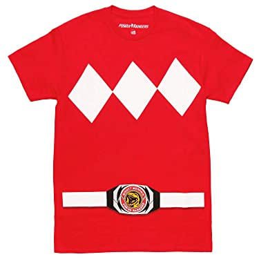 Power Rangers Uniform Costume Adult T-Shirt