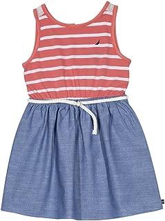 Girls' Striped Sleeveless Dress