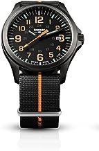 traser H3 Black/Orange P67 Officer Pro Gunmetal Watch | Textile Strap
