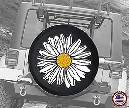 Spare Tire Cover Pretty White Flower Sun Daisy fits SUV or Camper RV Accessories 35 Inch