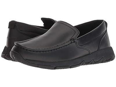 Hush Puppies Kids School Moccasin TS Field (Little Kid/Big Kid) (Black) Boys Shoes