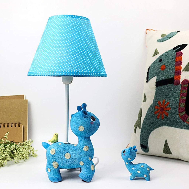 SMC Schlafzimmer-Nachttischlampe der Karikaturrotwildtischlampenkinder kreative warme nette dekorative Tischlampe des Mdchenjungen (Farbe   Blau)