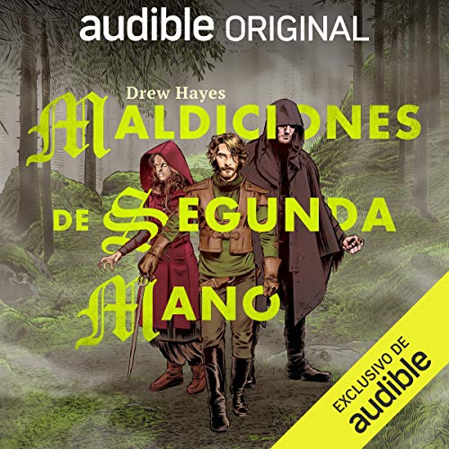 Diseño de la portada del título Maldiciones de segunda mano (Narración en Castellano)