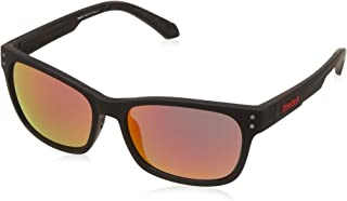 Reebok Mirrored Square Unisex Sunglasses - (RBK AF12 BLK RED MIR APC|56|Red Color Lens)