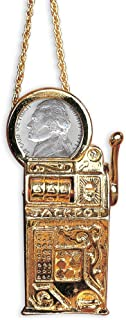 American Coin Treasures Slot Machine Pin/Pendant with Jefferson Nickel