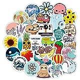 ZNMSB 40 Dibujos Animados Lindo Color pequeño Fresco Mano Cuenta Pegatinas teléfono móvil Casco Aseo papelería Pegatinas...