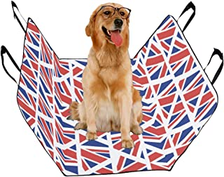JTMOVING Fashion Oxford Pet Car Seat Flag Country Flag Retro Vintage Design Waterproof Nonslip Canine Pet Dog Bed Hammock Convertible for Cars Trucks SUV