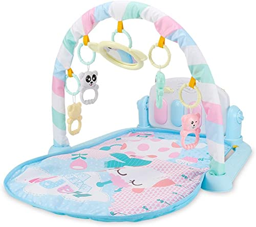 LINAG Activity Matte Baby Gym Piano Play Decke Mat Spieldecke Infant Spielzeug Kick Sport Musik Pédaler Spiel Krabbeldecken Taufgeschenk Baby Smart Kinder Lernspielzeug Kriechen Decke , Blau